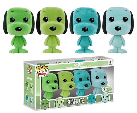 Pop! Minis: Peanuts - Mint Snoopy (Flocked) (4-Pack) - Limitiert auf 500 Stück