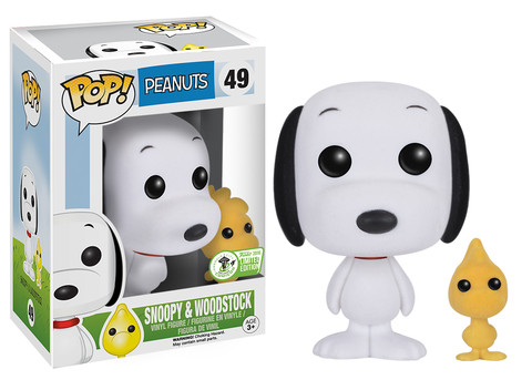Pop! TV: Peanuts - Snoopy & Woodstock (Flocked)