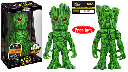 Hikari Sofubi: Guardians of the Galaxy - Green Grunge Groot - Limitiert auf 100 Stück